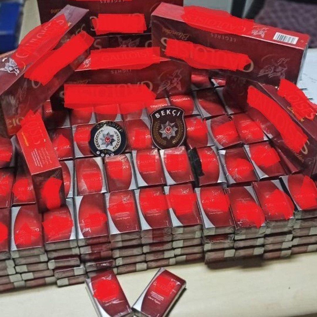 417 paket kaçak sigara ele geçirildi