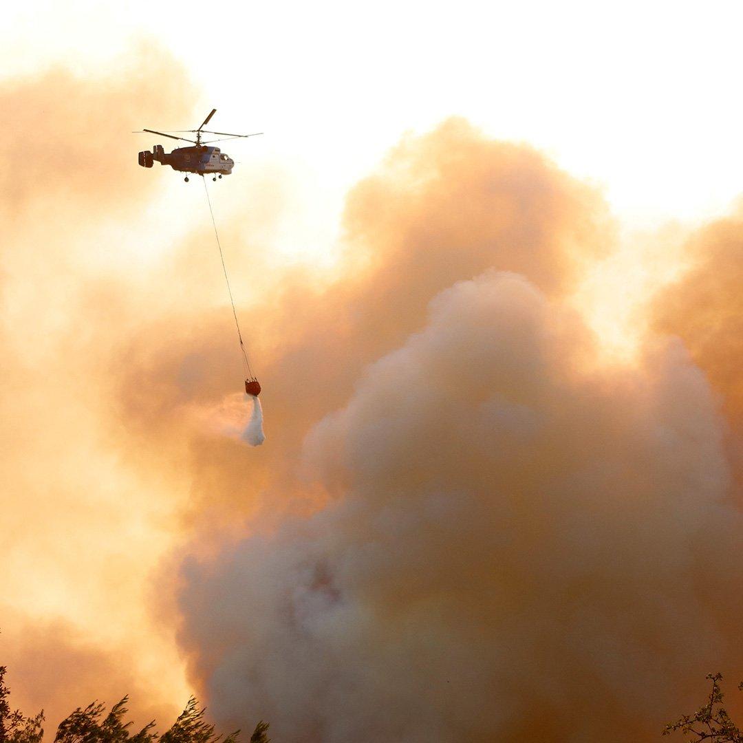 Adana'da orman yangınına müdahale sürüyor