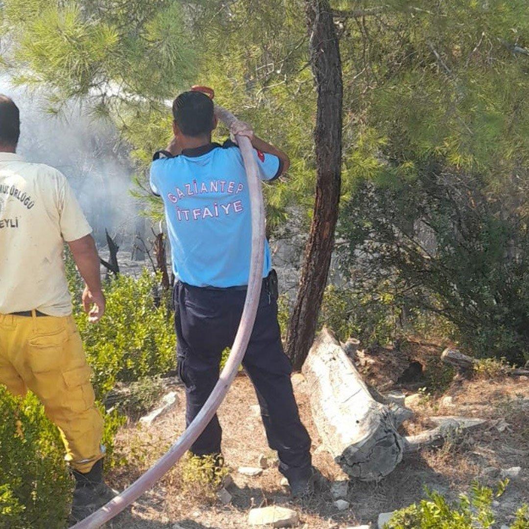 Adana ve Osmaniye'deki orman yangınlarına Gaziantep'ten destek
