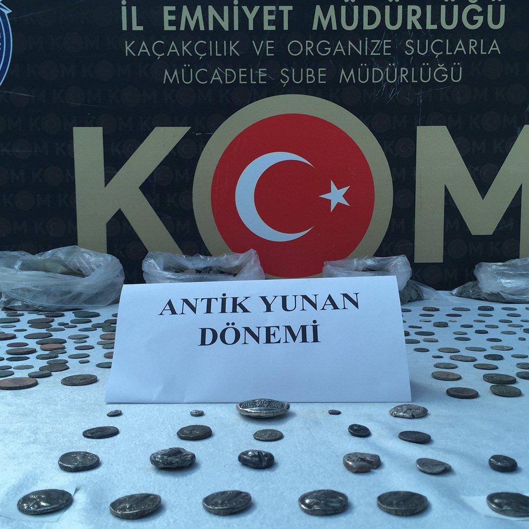"""Anadolu"""" operasyonunda ele geçirilen tarihi eserler göz kamaştırdı"""