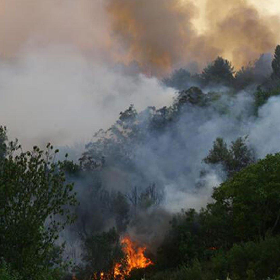 Antalya'nın Gündoğmuş ilçesi yangın nedeniyle tahliye ediliyor