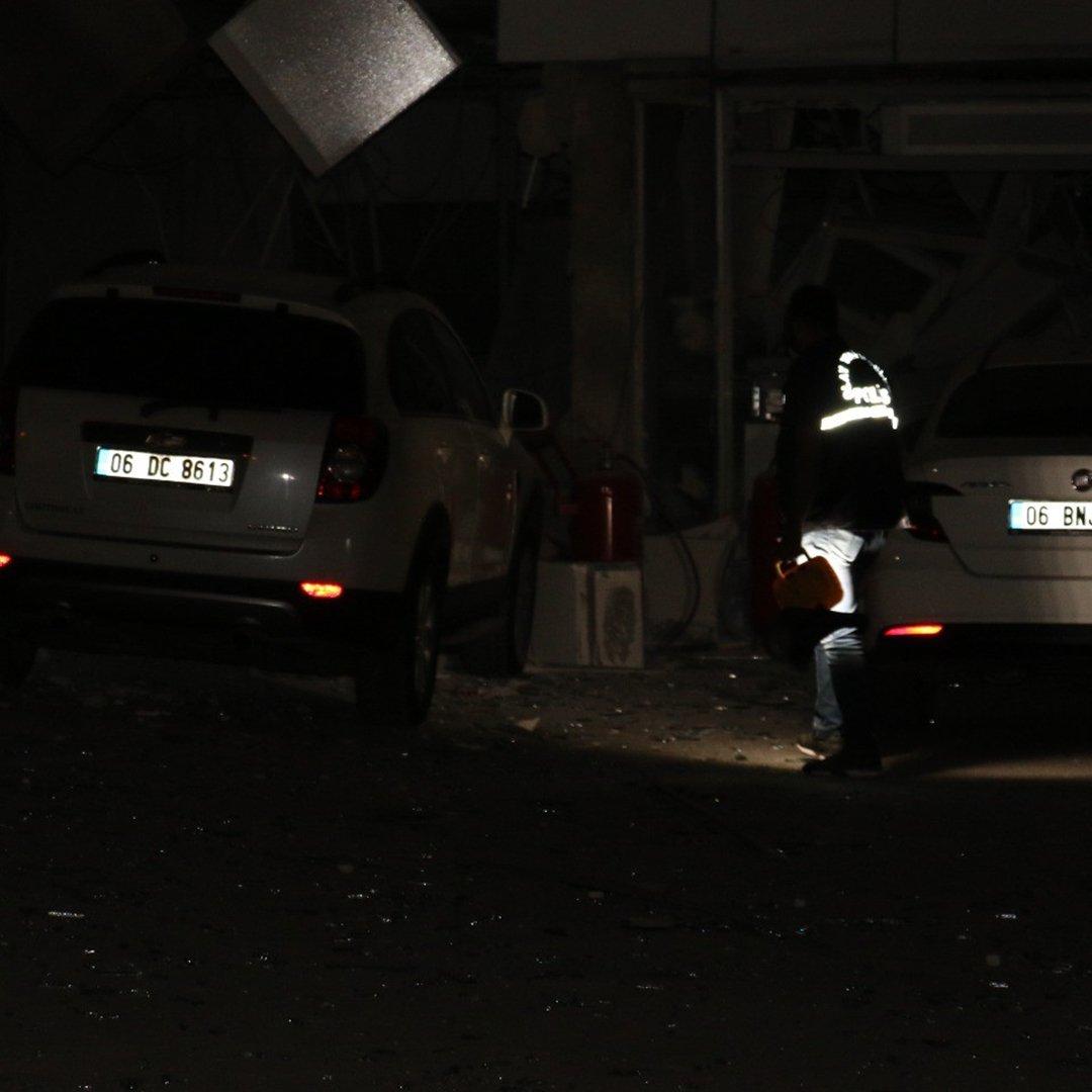 Başkent'te akaryakıt istasyonununda patlama: 1 yaralı