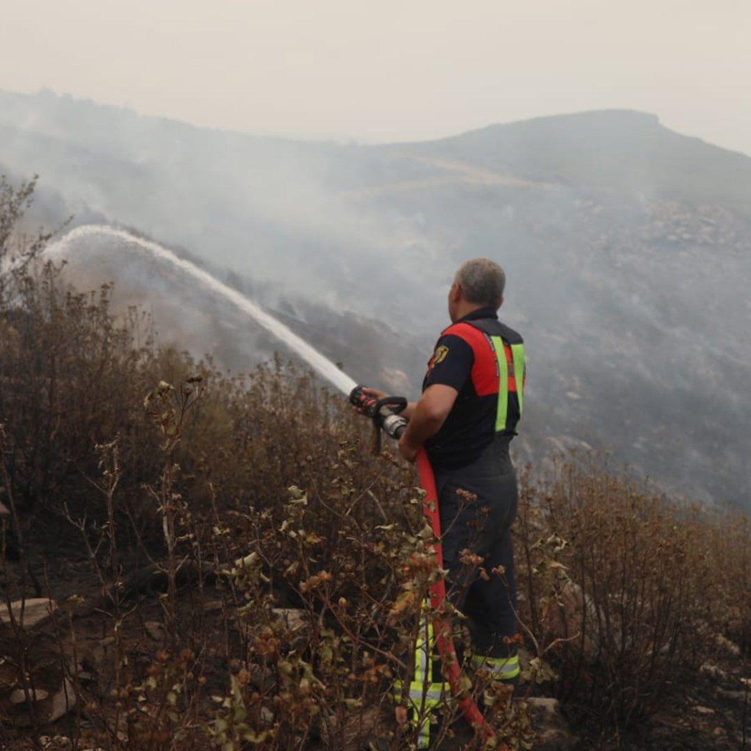 Büyükşehir itfaiyesi orman yangınları ile mücadele ediyor