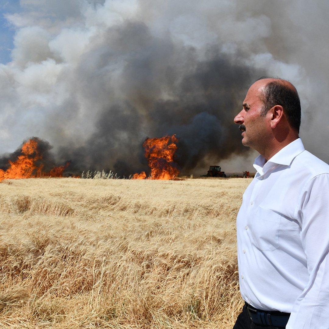 Doğru, ekin yangınlarına karşı çiftçileri uyardı