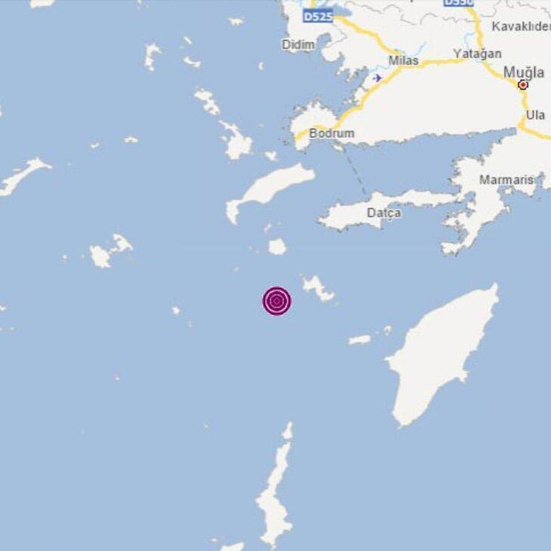 Ege Denizi Muğla açıklarında deprem