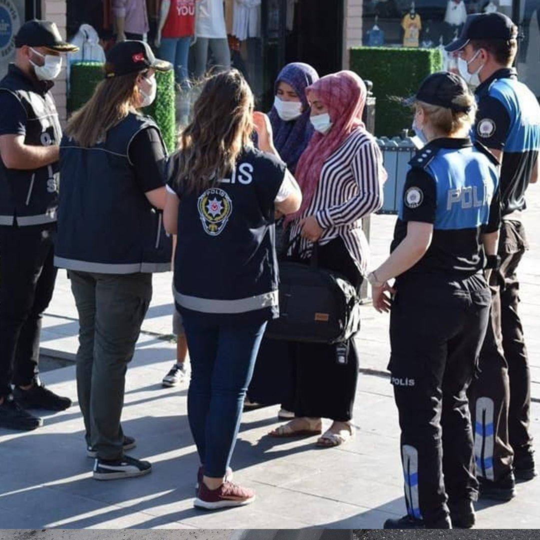 Erzincan polisinden 'kadına şiddet' bilgilendirmesi