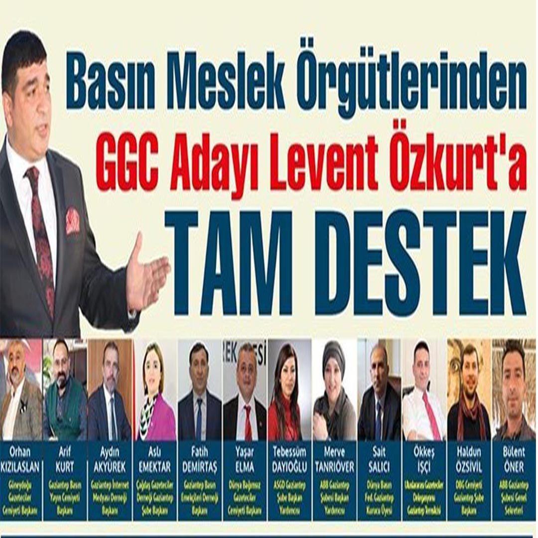 GAZİANTEP BASIN CAMİASINDAN ÖZKURT'A TAM DESTEK