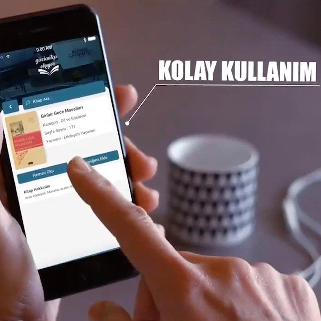 Gaziantep okuyor mobil uygulaması