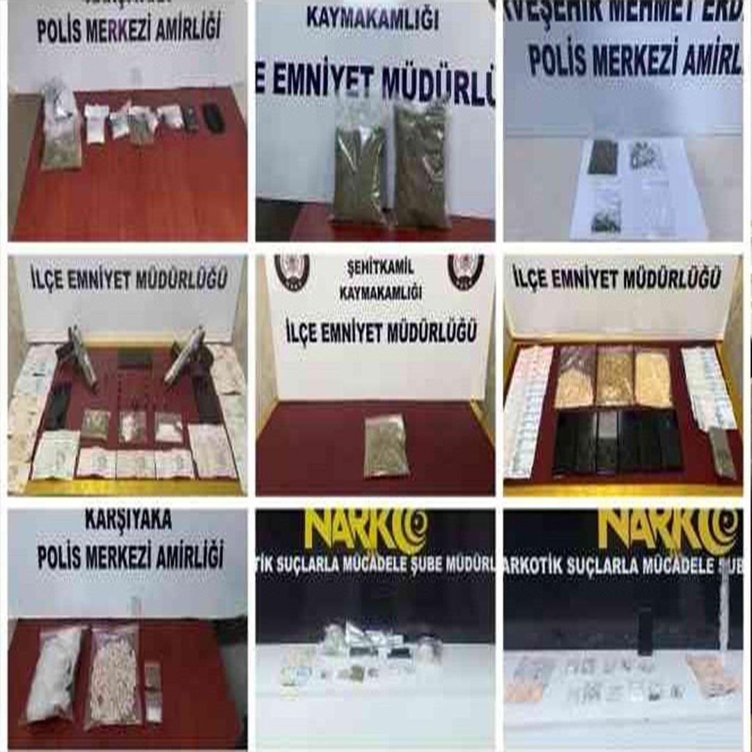 Gaziantep'te 1 haftada 33 uyuşturucu satıcısı tutuklandı