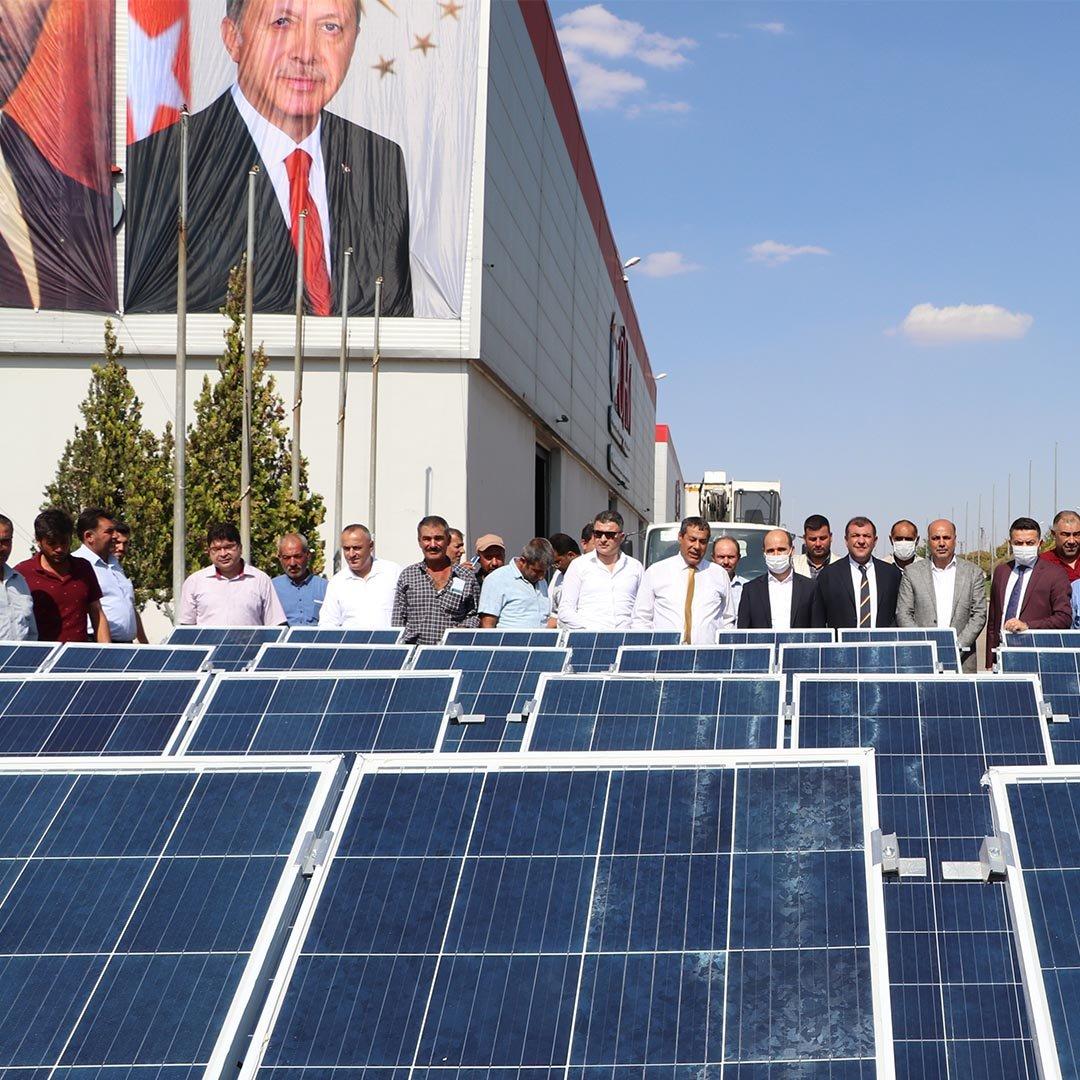 Gaziantep'te 140 çiftçiye güneş paneli dağıtıldı