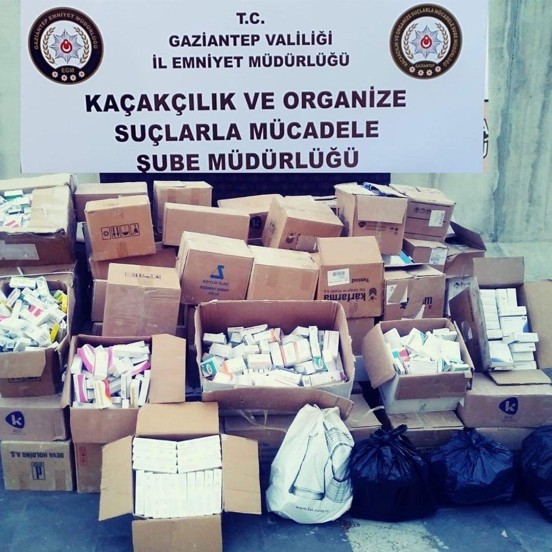 Gaziantep'te 80 bin kaçak ilaç ele geçirildi