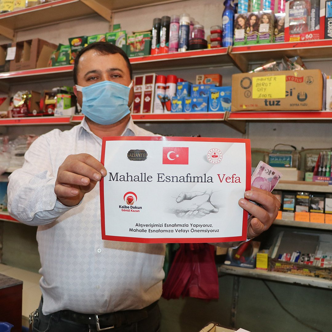 Gaziantep'te bir hamle iki ayrı destek