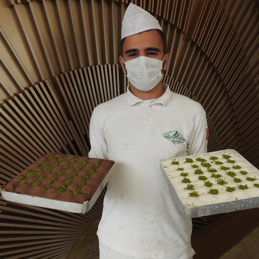 Gaziantep'te soğuk baklava lezzeti