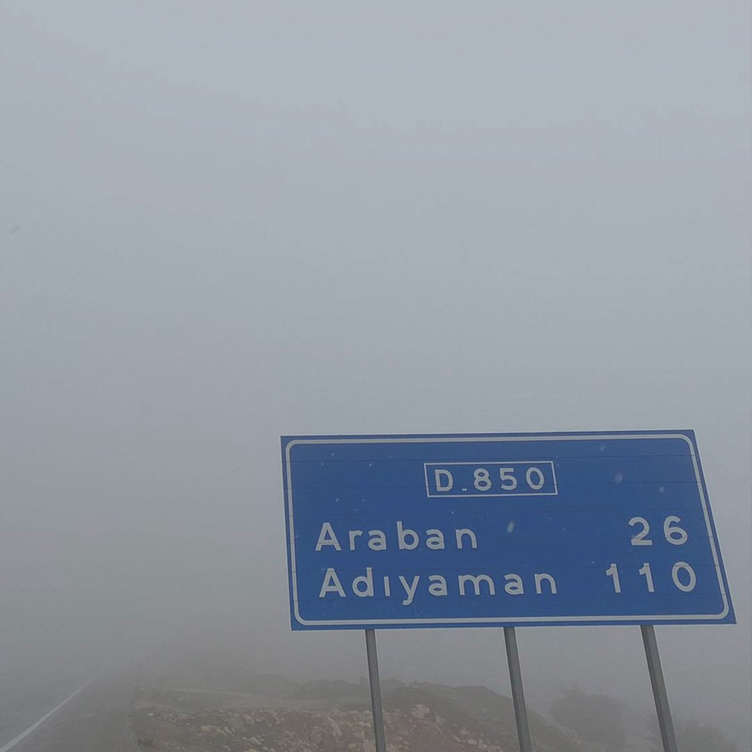 Gaziantep'te  yağış ve sis etkili oldu