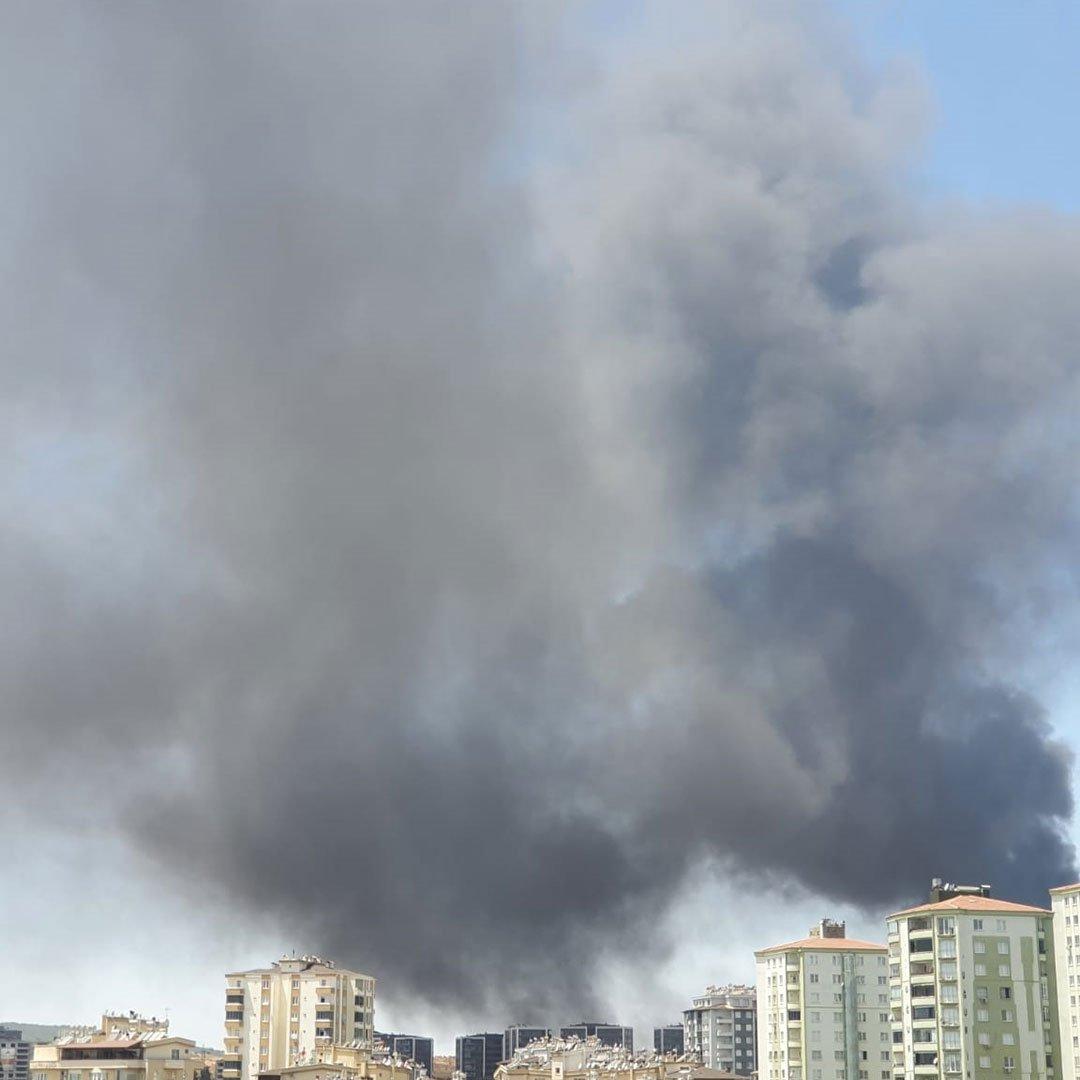 Gaziantep'te Yangın Devam Ediyor