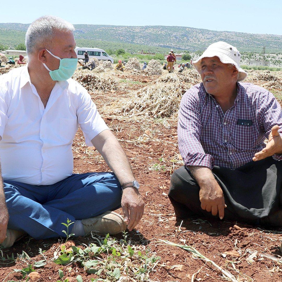 Hasan Altun çiftçilerle buluştu