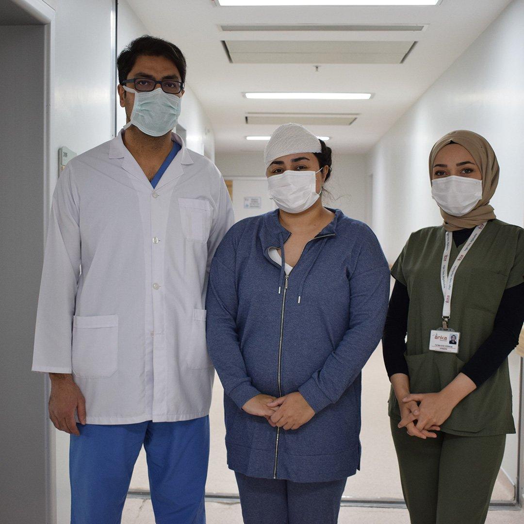 Iraklı hasta beynindeki tümörden ANKA'da kurtuldu
