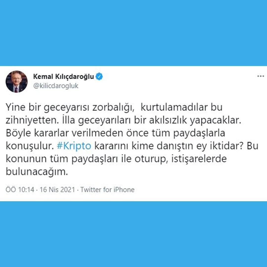 Kılıçdaroğlu'ndan 'kripto para' yönetmeliğine sert tepki