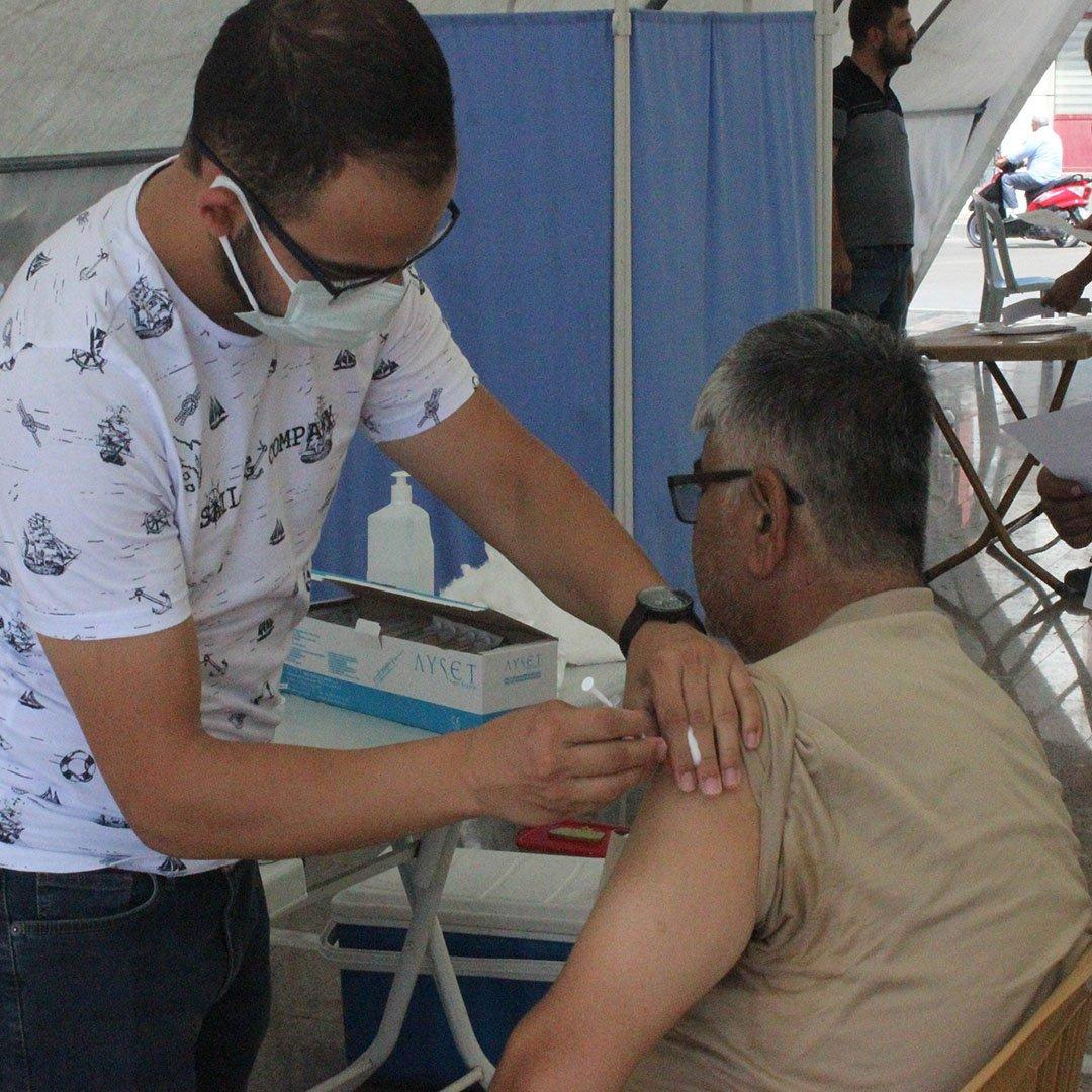 Kilis'te 130 bin doz aşı yapıldı