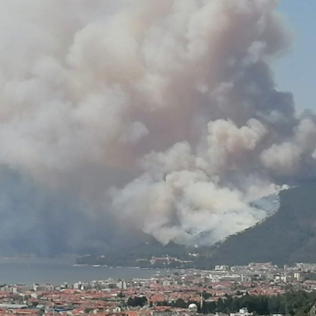 Marmaris'te orman yangını: 1 şehit