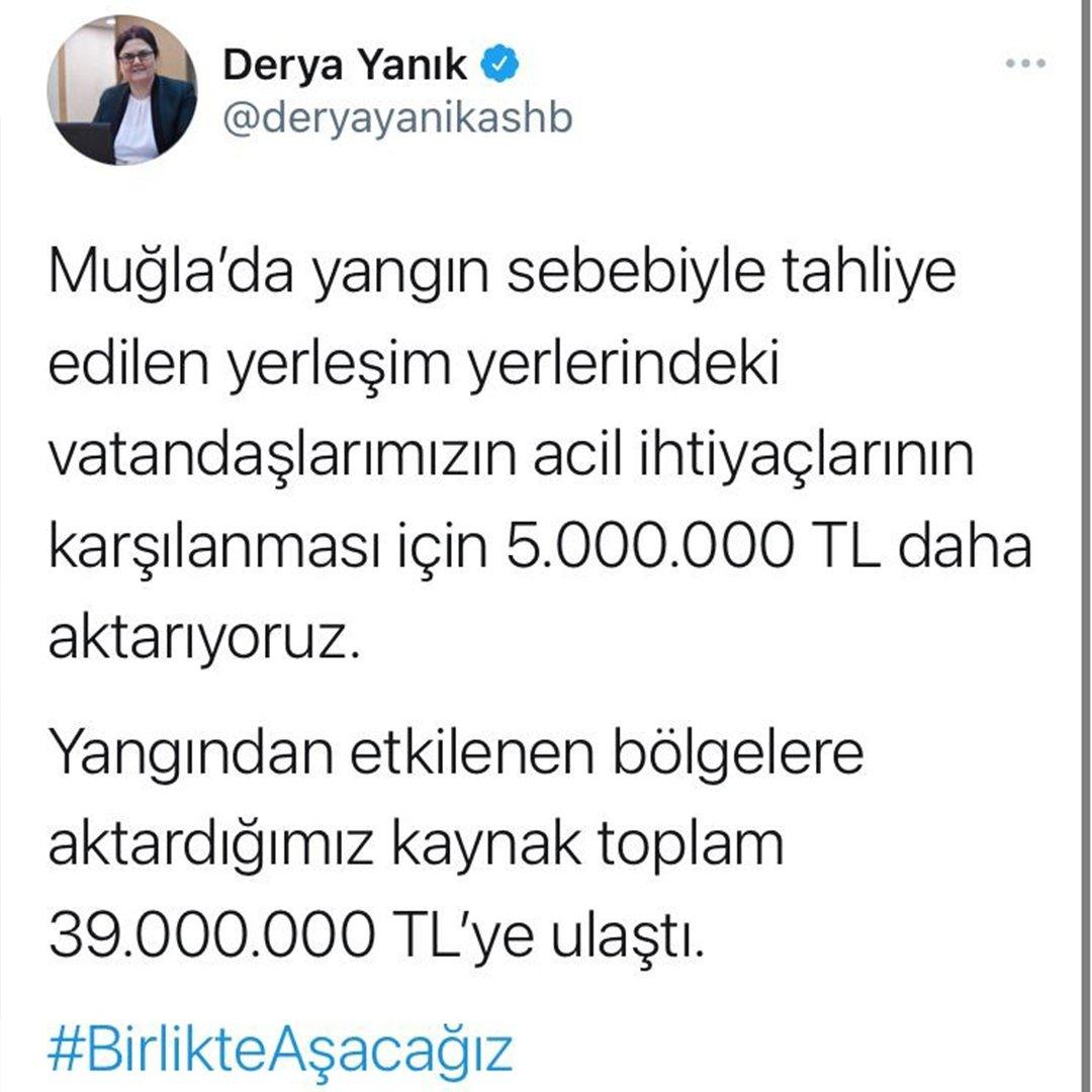 Muğla'ya 5 milyon ek ödenek