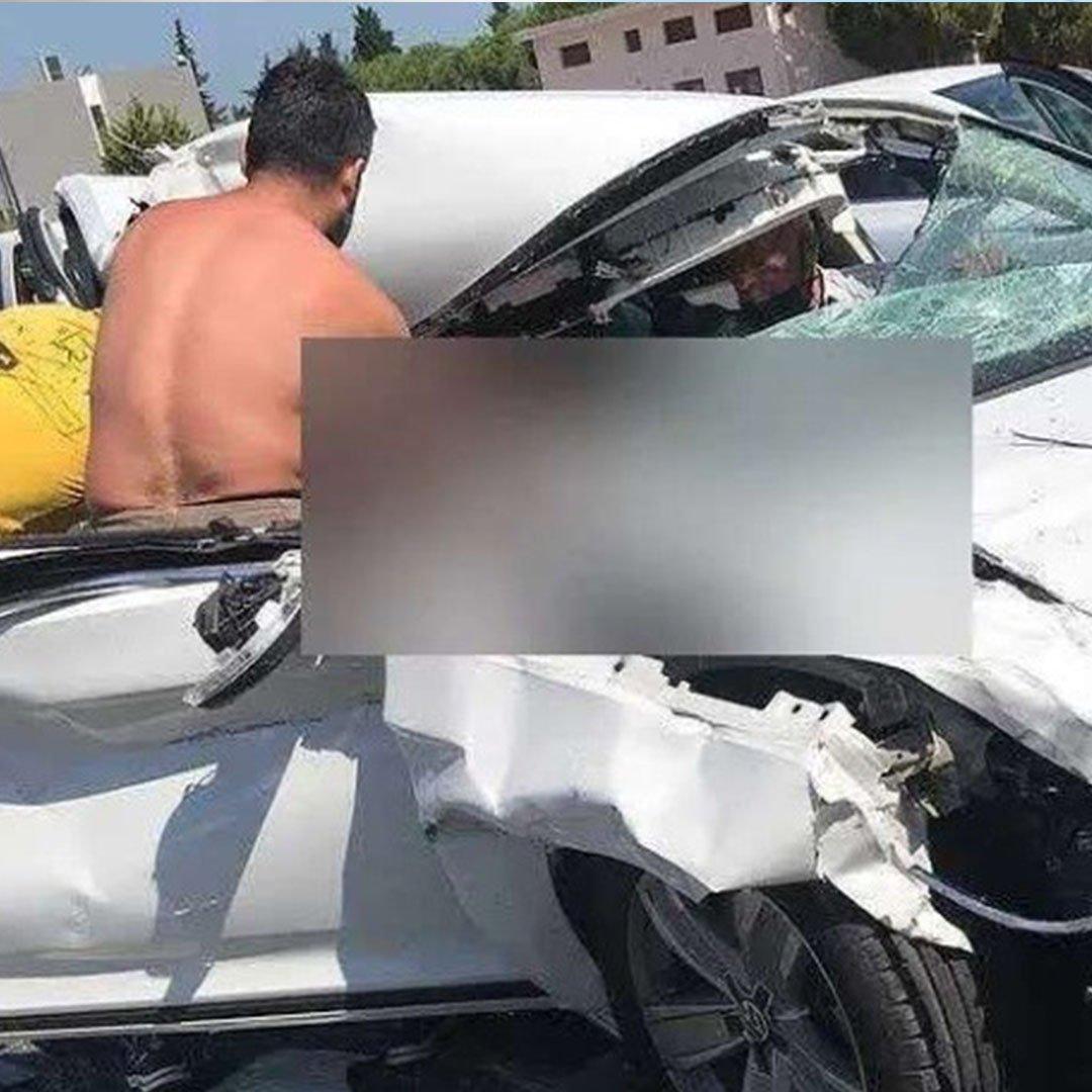 Otoyol çıkışında feci kaza: 1 ölü, 1 yaralı