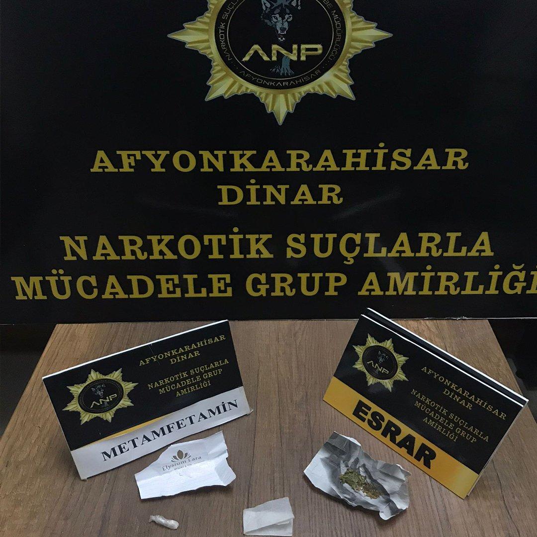 Polis şüphelendi araçtan uyuşturucu madde çıktı