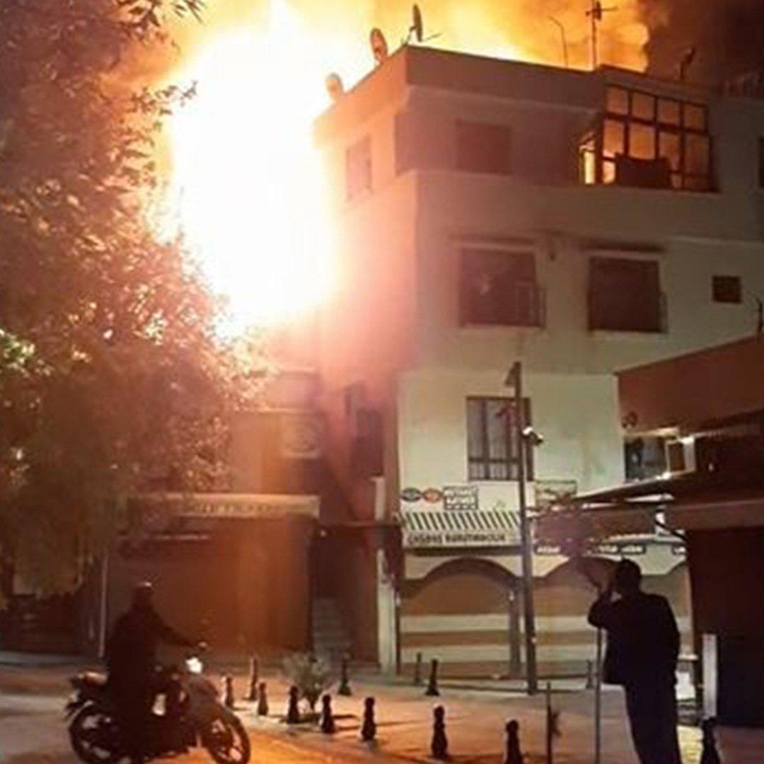 Tarihi Antep evinde yangın