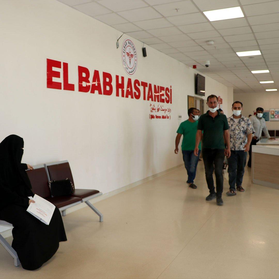 Türkiye'nin yaptığı El-Bab Hastanesi yılda 230 bin hastaya şifa kapısı oluyor